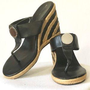 BCBGeneration Wedge Thong Sandals